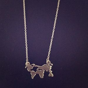 H&M World Map Necklace